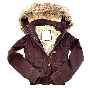 Abercrombie S Brown Fur Jacket